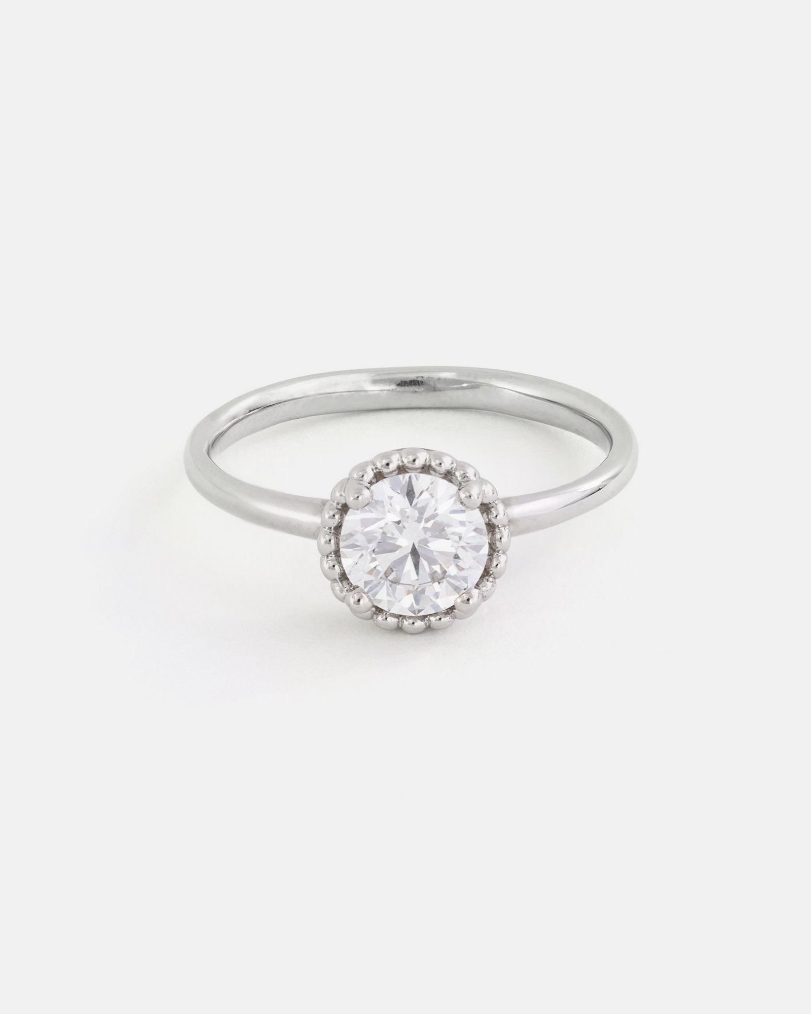 Round Galatée Ring in Fairmined Gold with Lab Grown Diamond
