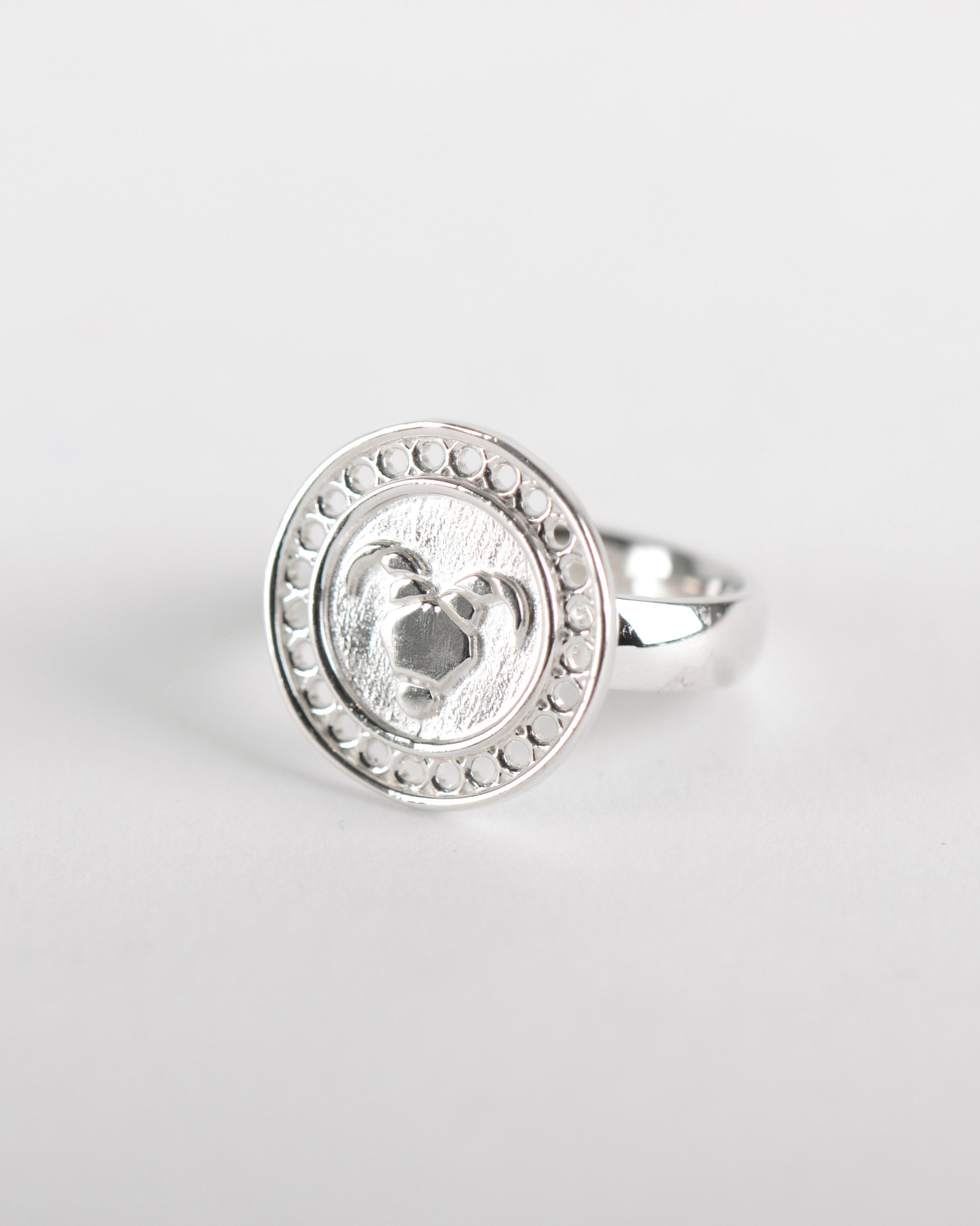Zodiac Aries Ring in Silver
