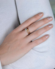 Hej Ring in Yellow Gold with Citrine