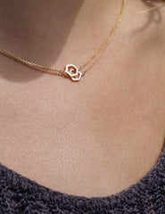 Geo 1 Necklace in Yellow Gold