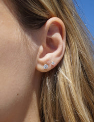 Lab-Grown Diamond Stud Earrings in White Gold (0.50 carats)