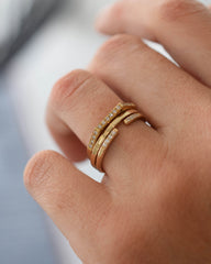 Fine Square Band Ring in Yellow Gold
