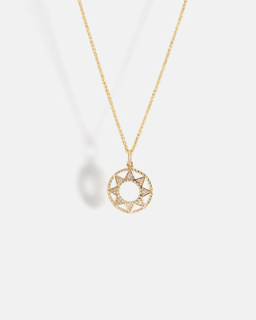 Star of Fez Necklace in Yellow Gold with Lab-Grown Diamonds
