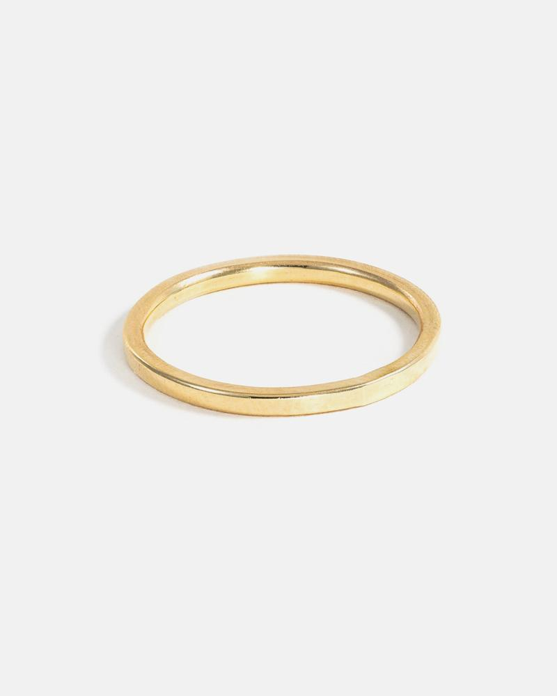Fine Square Band Ring in Yellow Gold 1.5mm