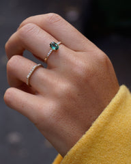 Theory 2 ring with diamonds