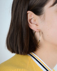 Classic Large Hoops in Yellow Gold