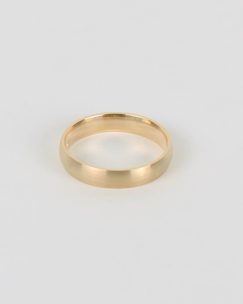 Semi Round Band in Matte Yellow Gold for Men