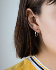 Small Fine Hoops in Yellow Gold