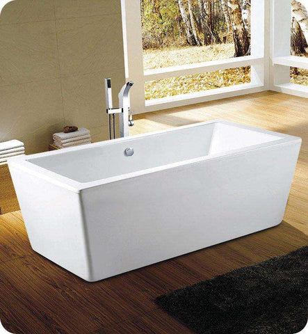 "Neptune Rouge Amaze F1 60"" Rectangular Freestanding Tub White (AZ3260F1R)"