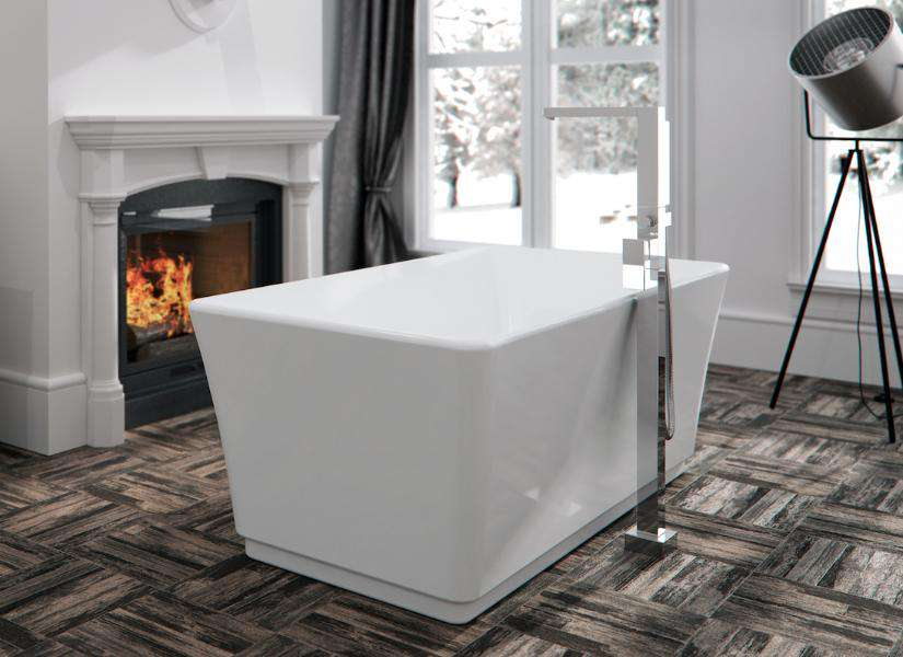 "Neptune Rouge London F1 67"" Rectangular Freestanding Tub White (LON3066F1) - towelwarmers"