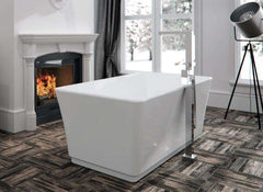 "Neptune Rouge London F1 59"" Rectangular  Freestanding Tub White (LON3060F1) - towelwarmers"