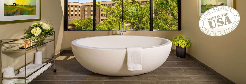 Tyrrell and Laing Imperia Stone Freestanding Soaker Tub
