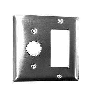 Amba AJ-DGP-S Stainless Steel Jeeves Double Gang Wall Plate - OnlyTowelWarmers.com  - 1