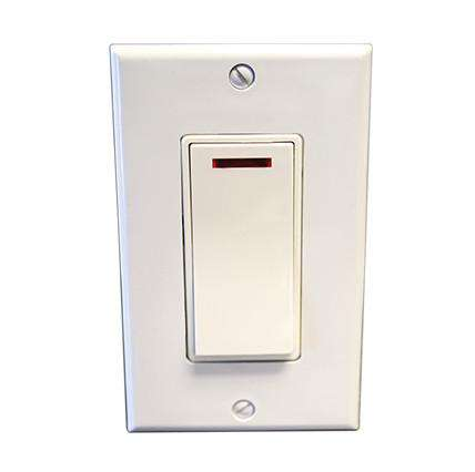 "Pilot Light Switch (WHITE) - 1 3/4""w x 3""h - OnlyTowelWarmers.com"