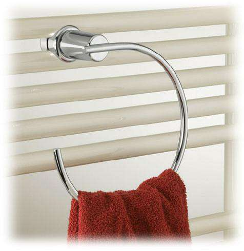 Runtal Solea Chrome Towel Ring - towelwarmers