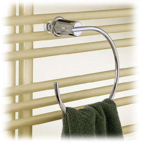Runtal Versus Chrome Towel Ring - OnlyTowelWarmers.com