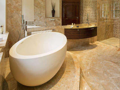 Tyrrell and Laing Adoni Stone Freestanding Soaker Tub - towelwarmers