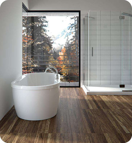 "Neptune Rouge Berlin F2 59"" Oval Freestanding Tub White (BER3260F2)"