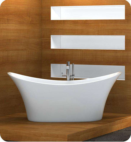 "Neptune Rouge Florence F1 66"" Oval Freestanding Tub White (FLO3266F1)"