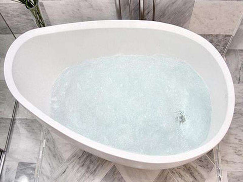 Tyrrell and Laing Rosebud Stone Freestanding Soaker Tub