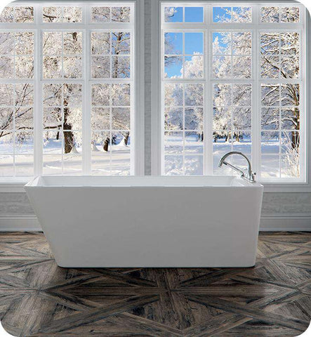 "Neptune Rouge Lauzanne F1 67"" Rectangular Freestanding Tub White (LAU3066F1)"