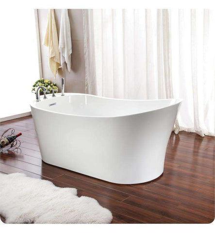 "Neptune Rouge Paris F1 67"" Oval Freestanding Tub White (PAR3266F1)"