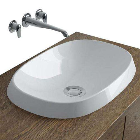 "Calma Rossini Oval Vessel Sink - 19.8""w x 12.8""d"