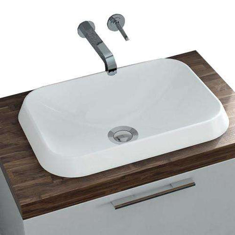 "Calma Rossini Rectang Vessel Sink - 17.8""w x 12.8""d"