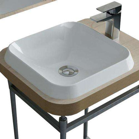 "Calma Rossini Square Vessel Sink - 14.8""w x 14.8""d"