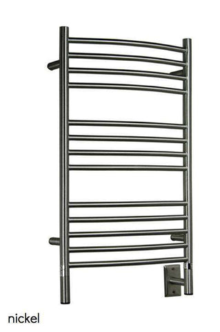 "Amba Jeeves C Curved Hardwired Mounted Towel Warmer  - 20.5""w x 36""h - OnlyTowelWarmers.com  - 1"