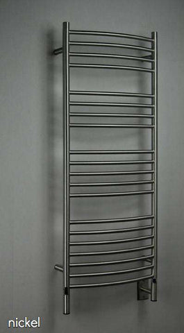 "Amba Jeeves D Curved Hardwired Mounted Towel Warmer  - 20.5""w x 53""h - OnlyTowelWarmers.com  - 1"