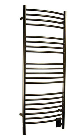 "Amba Jeeves D Curved Hardwired Mounted Towel Warmer  - 20.5""w x 53""h - OnlyTowelWarmers.com  - 6"