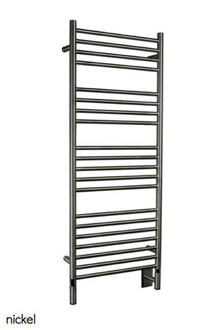 "Amba Jeeves  D Straight Hardwired Mounted Towel Warmer  - 20.5""w x 53""h - OnlyTowelWarmers.com  - 1"