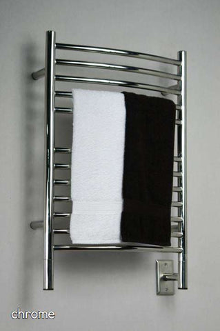 "Amba Jeeves E Curved Hardwired Mounted Towel Warmer  - 20.5""w x 31""h - OnlyTowelWarmers.com  - 1"
