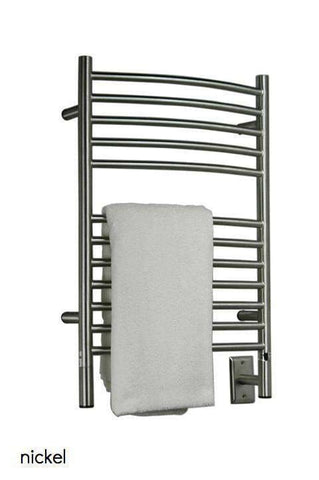 "Amba Jeeves E Curved Hardwired Mounted Towel Warmer  - 20.5""w x 31""h - OnlyTowelWarmers.com  - 5"