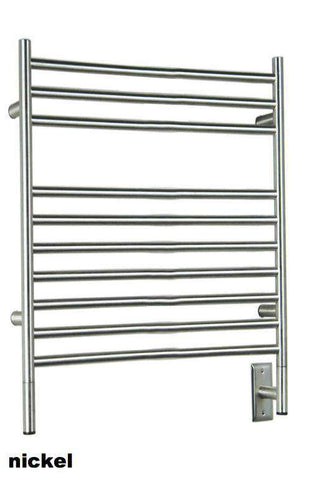 "Amba Jeeves  L Straight Hardwired Mounted Towel Warmer  - 39.5""w x 27""h - OnlyTowelWarmers.com  - 1"