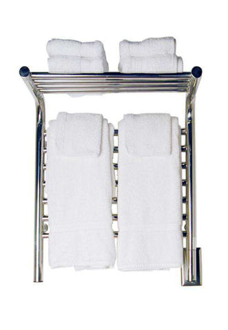 "Amba Jeeves M Shelf Straight Hardwired Mounted Towel Warmer  - 20.5""w x 22""h - OnlyTowelWarmers.com  - 1"