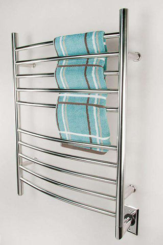 "Amba Radiant Curved Hardwired Mounted Towel Warmer - 23.75""w x 31.5""h - OnlyTowelWarmers.com  - 1"