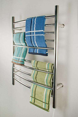 "Amba Radiant Curved Plug-in Mounted Towel Warmers - 23.75""w x 31.5""h - OnlyTowelWarmers.com  - 1"