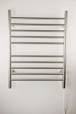 "Amba Radiant Straight Plug-in Mounted Towel Warmer - 23.75""w x 31.5""h - OnlyTowelWarmers.com  - 1"
