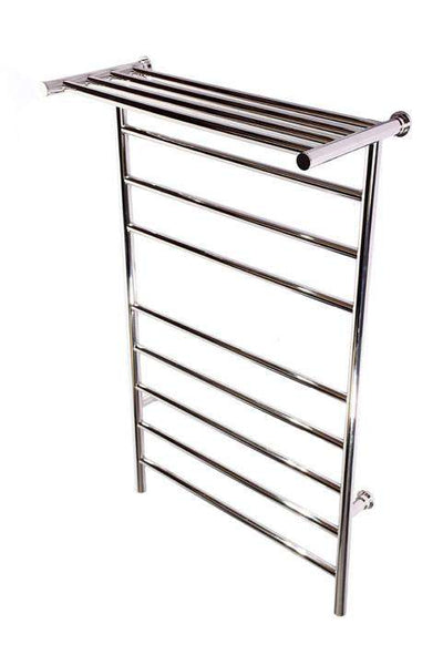 Kontour Angle Plug-In or Hardwired Towel Warmer With Shelf