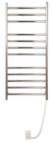 "Myson WDIA12 12  Bar Gem Wall mount plug in  Mounted Towel Warmer - 20""w x 46""h - OnlyTowelWarmers.com"