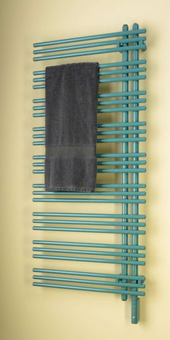 "Runtal Versus VTREL-6923 Plug in Mounted Towel Warmer - 22.8""w x 68.5""h - OnlyTowelWarmers.com  - 1"