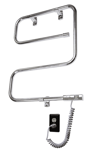 "Myson WSPHR03 3 Bar Gem Plug in Wall Mounted Towel Warmer - 19.7""w x 25.6""h"