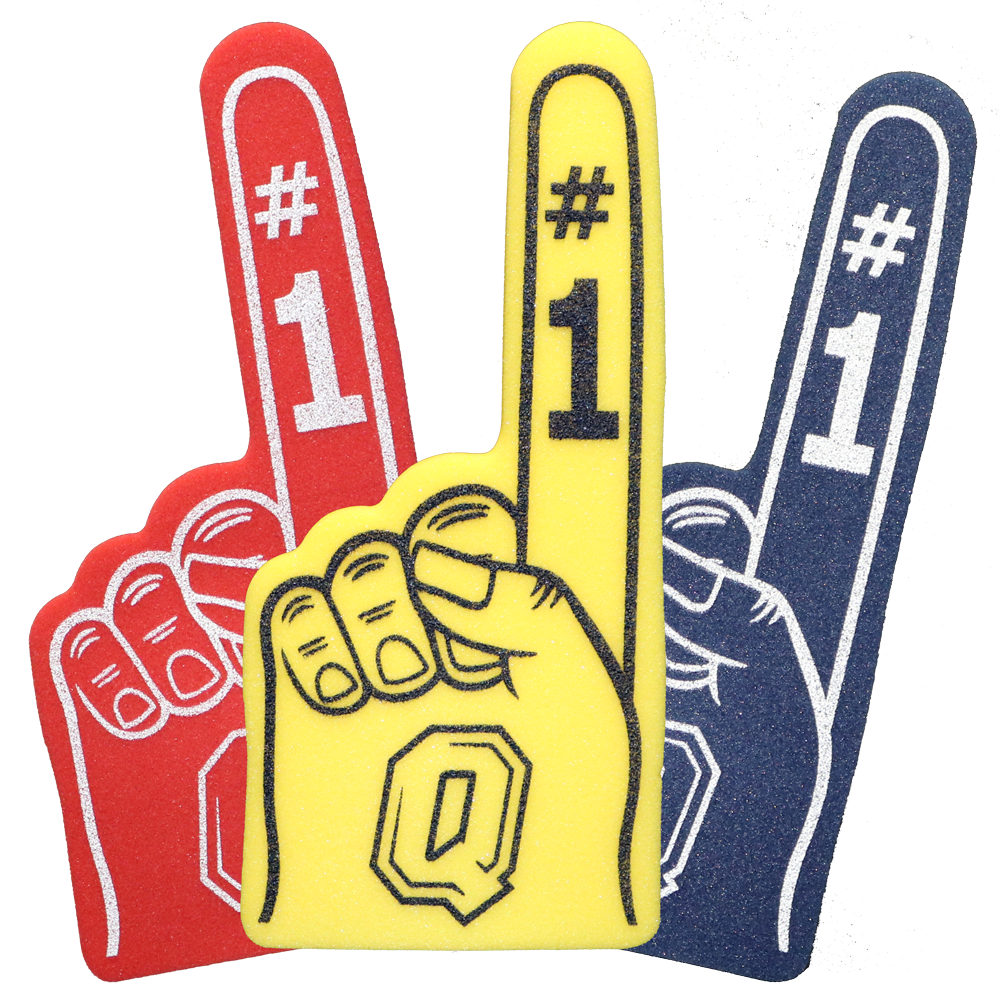 Tricolour Foam Fingers with Queen's Insignia