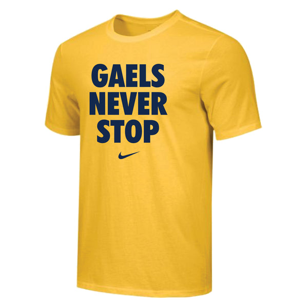 Nike Gaels Never Stop T-Shirt