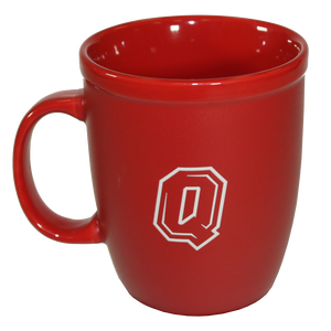 Red Ceramic Mug with Queen's Logo