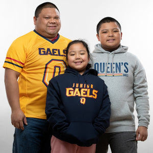 Gold Gaels Football Jersey Family Model