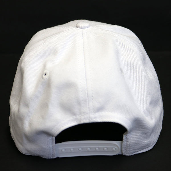 Ball Cap - White Snapback (Adjustable)