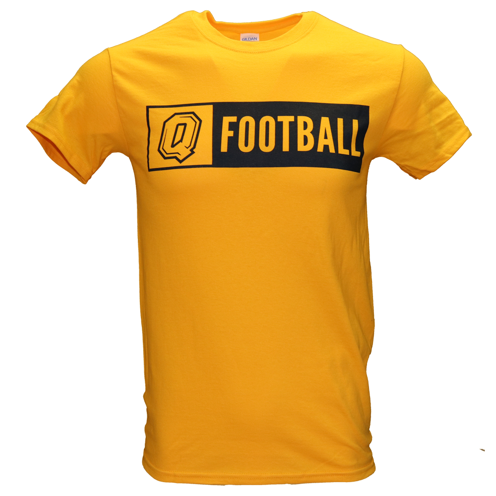 Gold Q Football T-Shirt